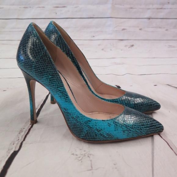 b614f7cf9b8 Miu Miu Pumps Turquoise Snakeskin Size 36